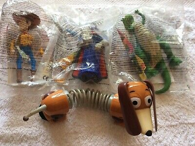 4 x Mcdonalds happy meal toys, Disney toy story, most sealed in bags.