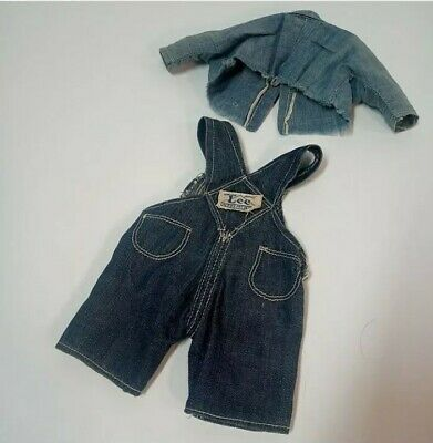 Vintage Buddy Lee Doll Overalls Chambray Shirt 40s 50s housemark