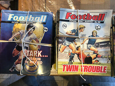 1- 400 X Football Picture Story Monthly Comics. JOB LOT.