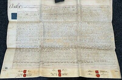 antique 3 page assignment indenture for an estate in Sherrington, Bucks 1811