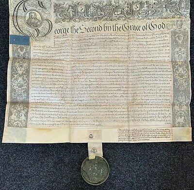 antique George II recovery indenture with large seal, West Haddlesey, Yorks 1750