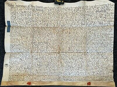 antique George II indenture deed for land at West Haddlesey, Yorkshire 1750