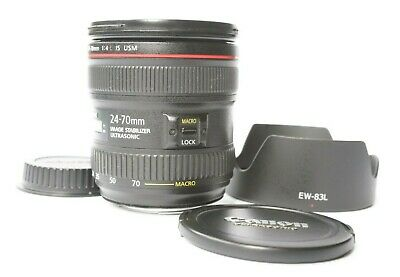 Canon EF 24-70mm F/4 L IS USM Macro Lens - fantastic condition