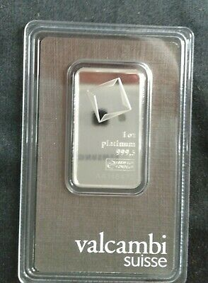 1 oz PLATINUM VALCAMBI BAR ASSAY 9995  NEW
