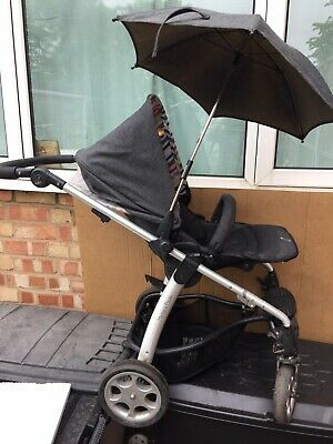 Mamas And Papas Sola Pushchair Buggy  With Rain Cover And Umbrella