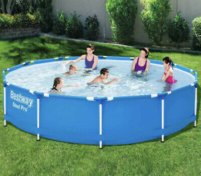 Bestway Swimming Pool Frame 366cm Above Ground Garden Outdoor Water Centre