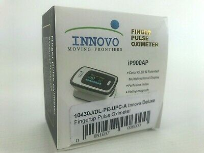 Innovo Deluxe Fingertip Pulse Oximeter Plethysmograph Perfusion Index iP900AP