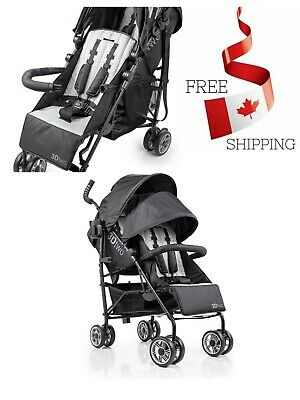 3D Two Double Convenience Stroller Black W/ Large Storage Basket With Auto Lock