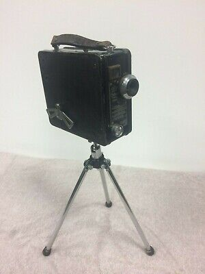 Vintage Cormer movie camera black model B with tripod stand