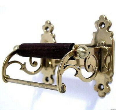 Victorian Toilet Roll Holder Gold Brass Vintage Style