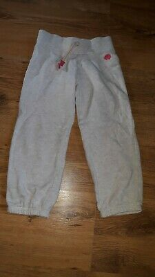 Next Girls Tracksuit Bottoms In Grey Colour, Size 3-4 Years Old, Elastic Waist