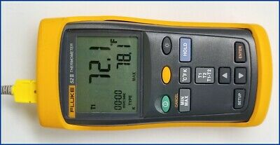 Fluke 52 II Dual-Input Digital Thermometer with Thermocouple & Holster