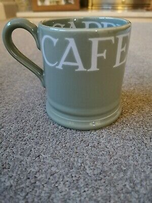 Rare Emma Bridgewater White Toast On Green Half Pint Mug. Excellent Condition.