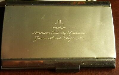 Vintage American Culinary Federation (Atlanta) Business Credit Card Holder Case