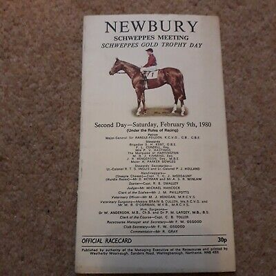 Newbury 1980 Schweppes Hurdle + Silver Buck Badsworth Boy