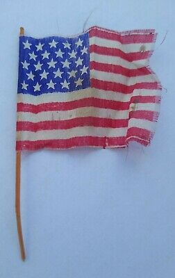 RARE Vintage ANTIQUE Silk 25 Star US Flag 1836-1837 NOT a Reproduction