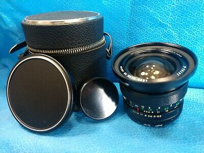 SPIRATONE Lens 1:3.2 f=18mm with Case Caps Vintage Photography Camera