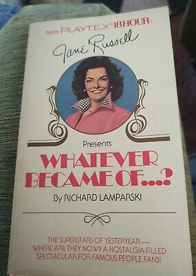 """Jane Russell Presents From Playtex 18 Hour 1980 """"Whatever Happened to"""" paperback"""