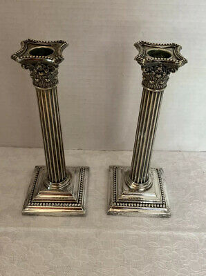 Vintage Gorham GM Co Silverplate E F 0135 Candlestick Pair