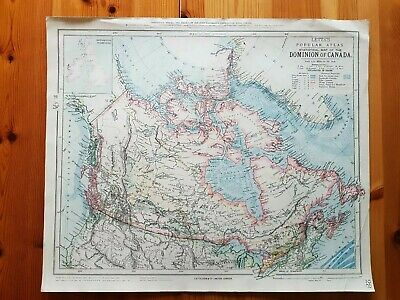 19th Century Engraving Map Of Canada Letts Popular Atlas