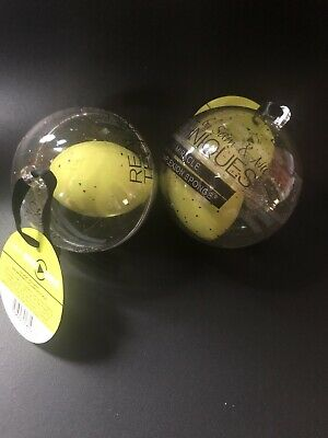 Lot of 2 Real Techniques Miracle Complexion Shimmer Sponge Ornament NEW