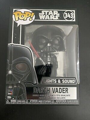 Funko Pop! Star Wars Darth Vader Electronic Lights Sound 343 Vinyl W/protector