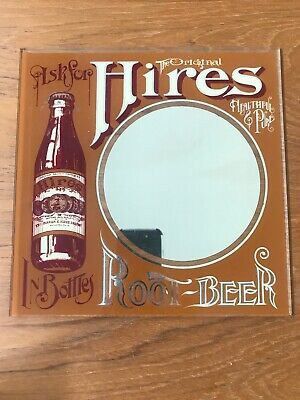 Vintage Hires Root Beer Advertising Mirror