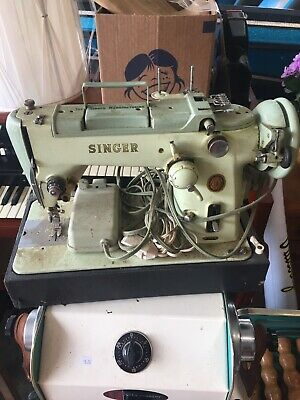 Singer 319W Sewing Machine tested working green needs Serviced Cleaned Read