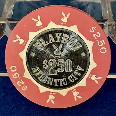 RARE $2.50 Playboy Atlantic City Chips - 'Concentric' Center - Free S&H!