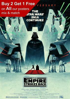 Star Wars The Empire Strikes Back 40th Anniversary 2020 Poster A5 A4 A3 A2 A1