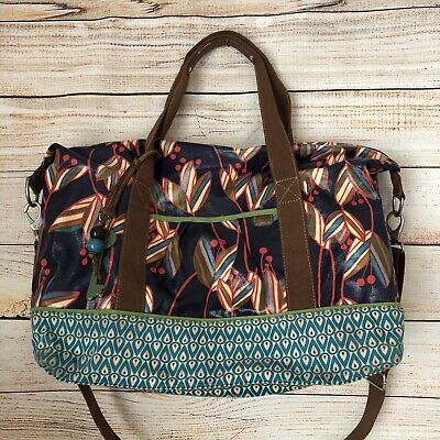 Fossil floral weekender overnight duffle bag