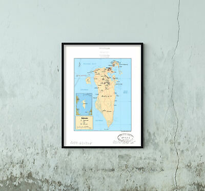 Historic Map - Bahrain | Antique Wall Art