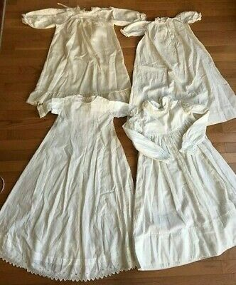 Victorian Baby Dresses Christening Dresses white lot of 4