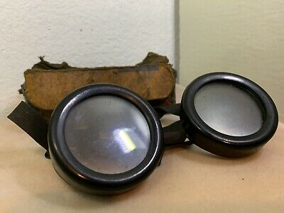 Vintage Welshade Absorbative Glass Welshweld Glass Goggles - (Steampunk!)