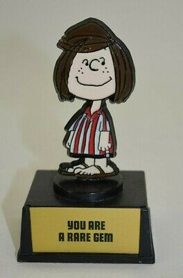 "Vintage Peanuts Trophy Award Aviva Peppermint Patty ""You Are A Rare Gem"" Snoopy"