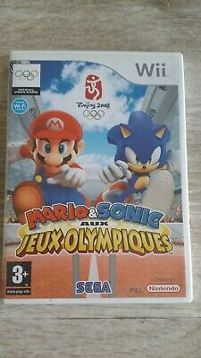 nintendo wii mario sonic aux jeux olympiques beijing 2008 complet version fr be