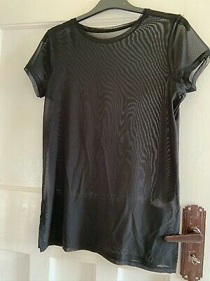 Girls Dance Active Mesh Over Top Size 13-14 Years Black