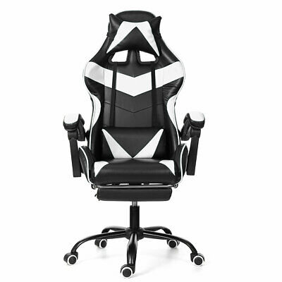 Office Gaming Chair Recliner Racing Desk Swivel Chair Foot Rest