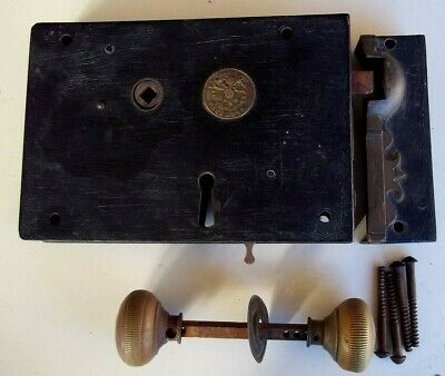 Large Antique Jas Carpenter No 60 Door Lock and Fittings