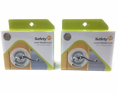 Safety 1st French Door Lever Handle Baby Proof Child Lock - One Hand - 2-Pack