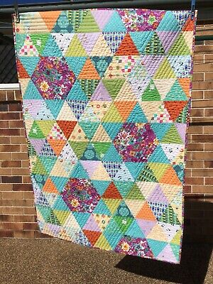 Patchwork Hexagon/triangle Handmade Quilt