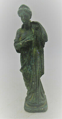 European Finds Circa 200 - 300 Ad Ancient Roman Bronze Statue Of Diana