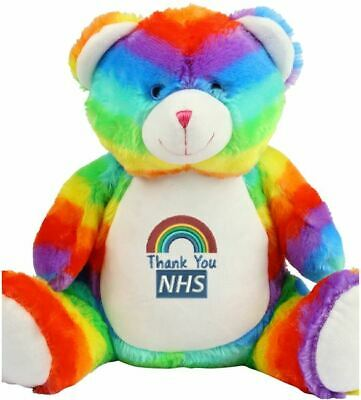 NEW with Tag - MUMBLES ZIPPIE RAINBOW NHS TEDDY BEAR. 10% back to the NHS.