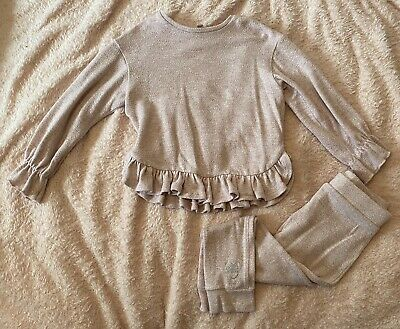 girls pink River Island loungewear set- age 3-4 years-excellent condition!