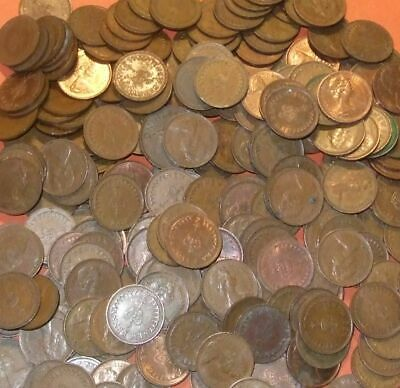 British Bulk lot of 1.8kg of Decimal 1/2p Half Pence Coins (approx 1000 Coins)