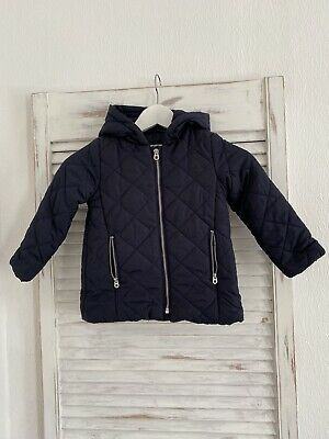 Baby zara navy jacket Size 4 Years Mint Condition
