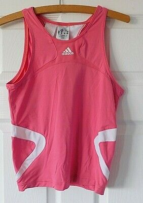 ADIDAS Clima 365 Pink Designer Vest Training Top Size 32/34 (approx age 14Y)