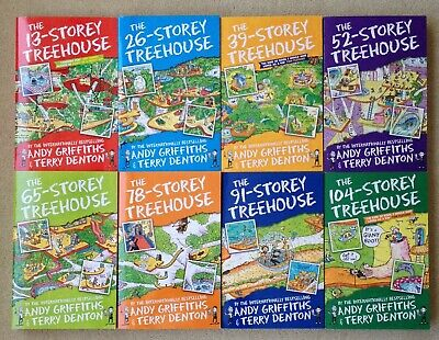 8 Book Series of Storey Treehouse Set of books by Andy Griffiths & Terry Denton