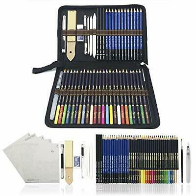 54PCS Art Colouring Pencils,Watercolour Drawing Pencils Set, Sketch Pencils with