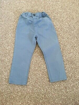River Island boys cotton chino trousers light airforce blue age 2-3 years